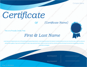 Award Certificate Template 144  Certificates Templates
