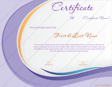 best guitarist award certificate template