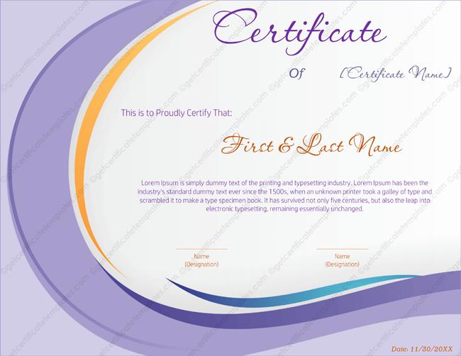 Award Certificate Templates Editable Printable in Word – Award Template