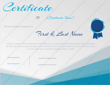 Award Certificate Template 145