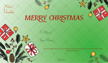 Christmas Gift Certificate (Artistic Gifts)