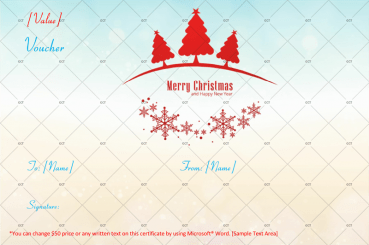 Christmas Gift Certificate (Clear Sky Design)
