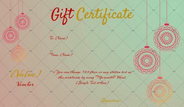 Christmas Gift Certificate – (Dusk Delight)