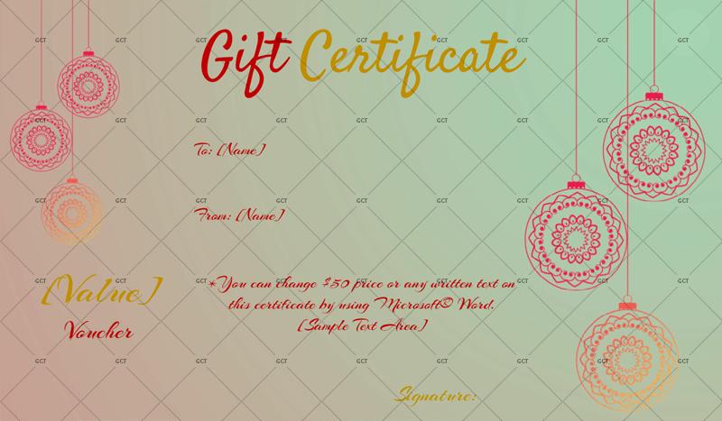 Christmas Gift Certificate - (Dusk Delight)