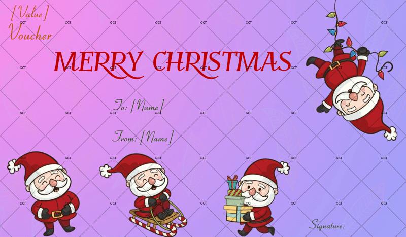 Christmas Gift Certificate (Fun Santas)