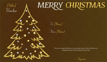 Christmas Gift Certificate (Gold Tree)