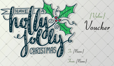 Christmas Gift Certificate (Holly Jolly Sketch)