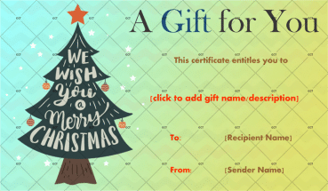 Christmas Gift Certificate (Regal Background With Ornaments)