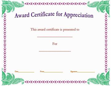 Achievement Award Template (Green Corners)