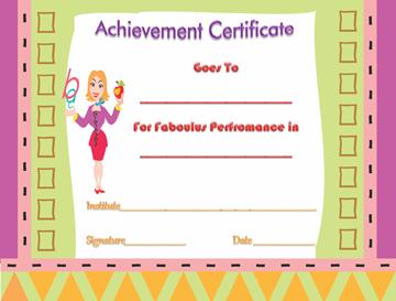 Achievement Certificate (Fabulous Performance)