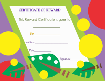 Art Themed Certificate of Appreciation Template Word