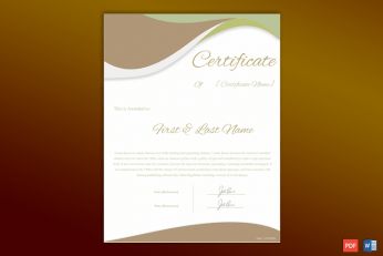 Formal Award Certificate Free