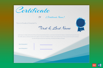 Editable Formal Award Certificate