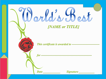 Award Certificate Template (Red Rose Themed)