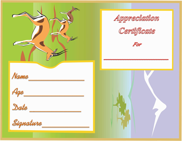 Award Certificate Template (Wildlife Themed)