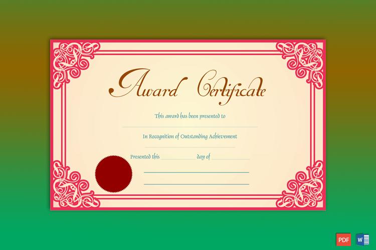 Achievement Award Sample