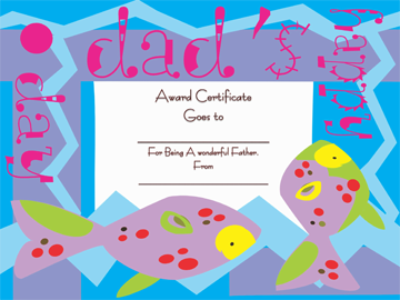 Best Dad Award Certificate Template