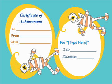 Best Halloween Costume Certificate Template