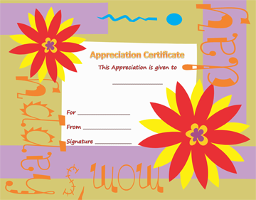 Best Mom Certificate of Appreciation Template