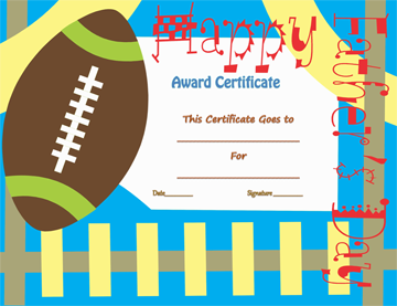 Best father award certificate