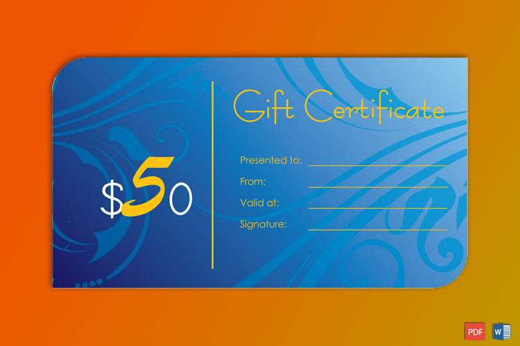 Editable Gift Certificate