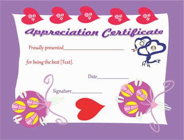 Certificate of Appreciation (Best Stage Couple)