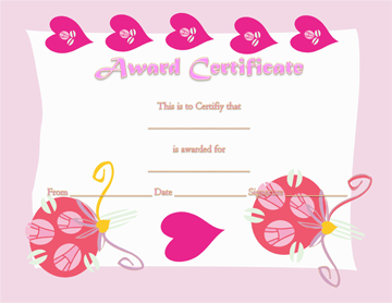 Certificate of Appreciation (Love Themed)