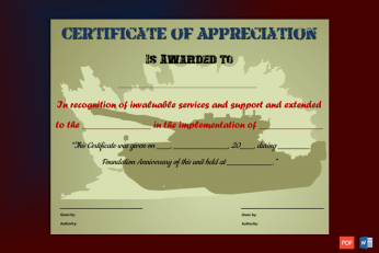 appreciation certificate printable