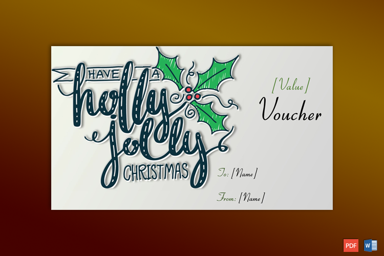 Christmas Gift Certificate Example