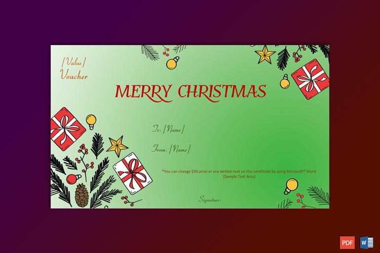 Christmas Gift Certificate Sample