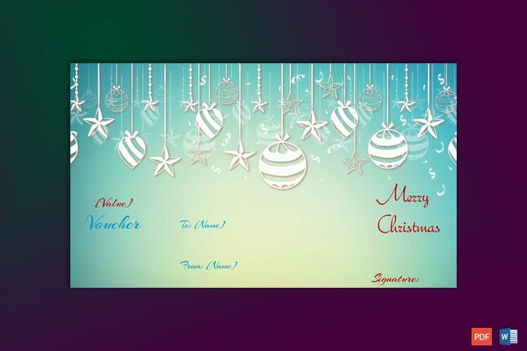 Example of Christmas Gift Certificate