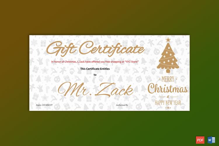 Christmas Gift Certificate Printable