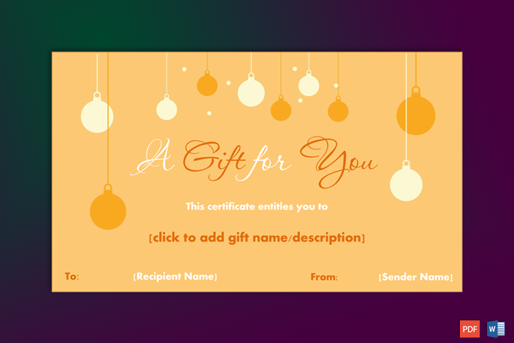 Christmas Gift Certificate Simple