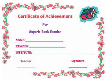 Colorful Best Reader Award Word