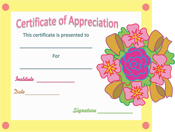 Decorating Certificate of Appreciation Template Word