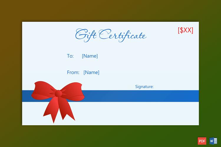 Santa Claus Gift Certificate Sample