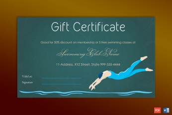 sports gift certificate