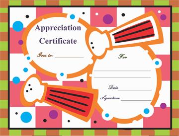 Eat n Taste Certificate of Appreciation Word