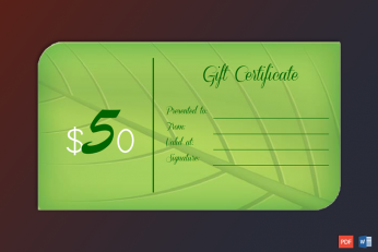 gift voucher printable