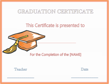 Hats off Graduation Award Certificate 2