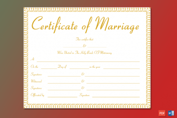Marriage Certificate India