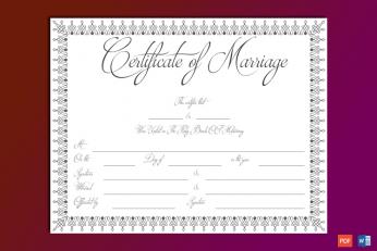 Diy Marriage Certificate
