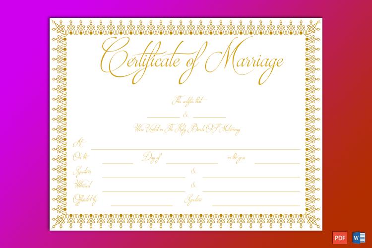 Free Fake Marriage Certificate Maker