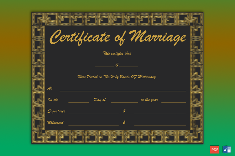 Marriage Certificate Soft Copy