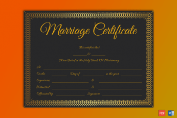 Microsoft Publisher Marriage Certificate