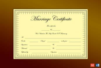 Create Fake Marriage Certificate Online Free