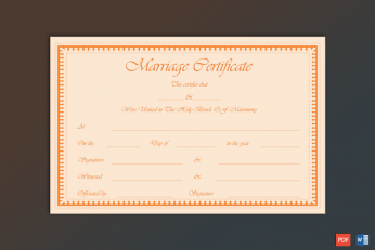 Counterfeit Marriage Certificate