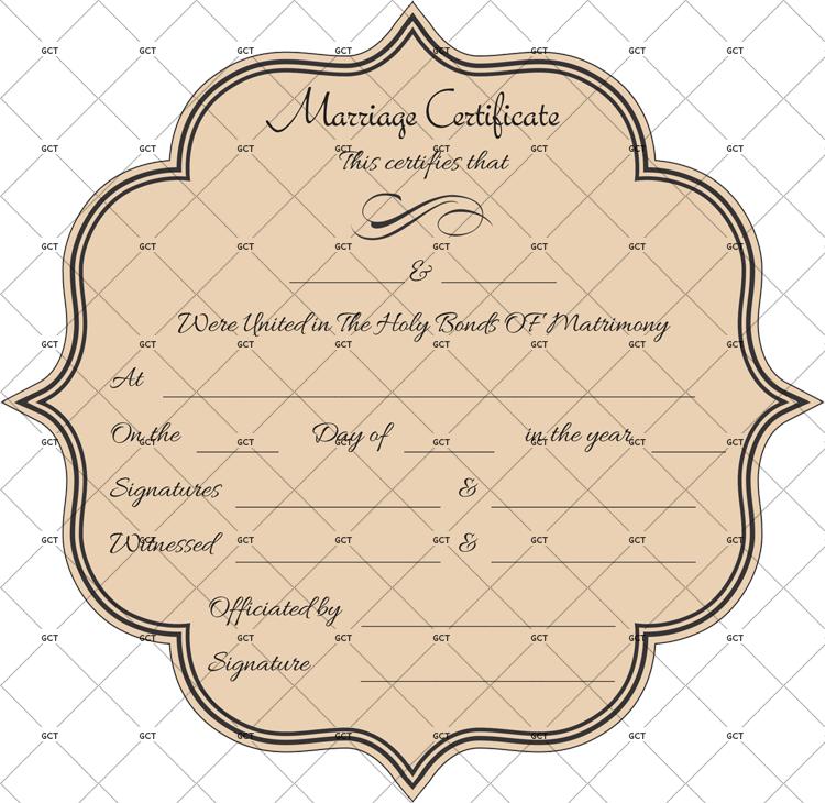 Editable Blank Format Marriage Certificate