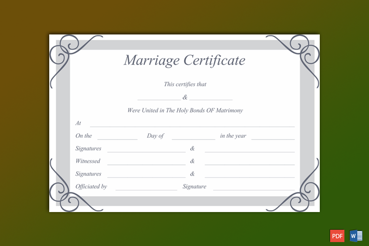 Free Fake Marriage Certificate Maker