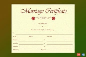 Can I Make My Own Marriage Certificate